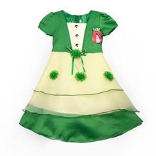 601 Green Haolaiyuan Best quality kids girls baby party dress