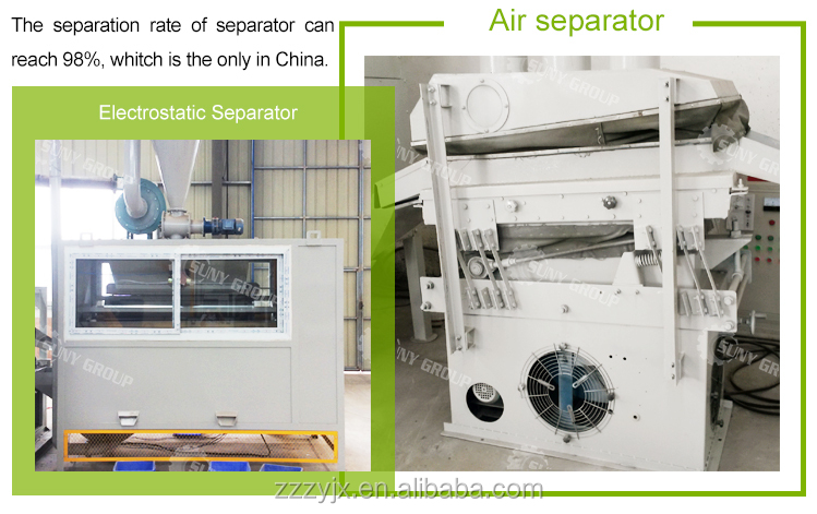 Plastic Aluminum Separating Line Coated Aluminum Waste Recycling Machine