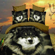 one vivid wolf print king size 3d bedding hot sale wolf pattern
