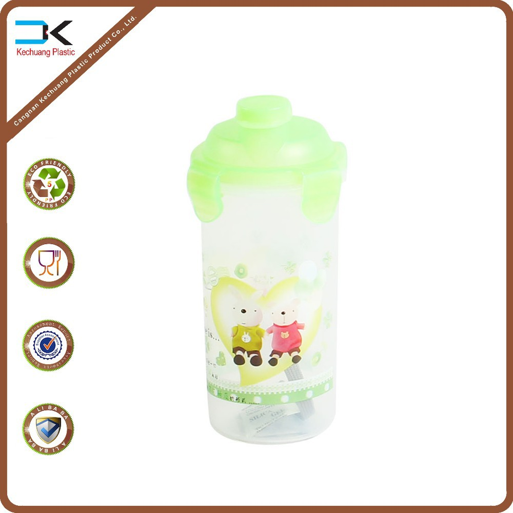 Picture printed custom made small plastic water bottle