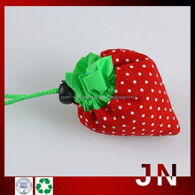 Polyester Folding Shopping Bags/Promotional Strawberry-shaped Shopping Bags/Strawberry Bags Supplier from China