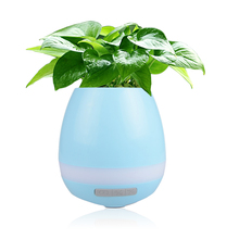 Newest Play Paino ABS Plastic Smart Led Music Flower Pot With Speaker