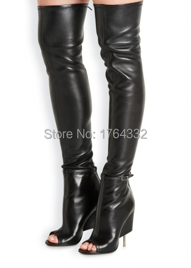 Cheap Thigh High Leather Black Boots, find Thigh High Leather ...