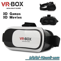 HOT Google cardboard VR BOX II 2.0 Version VR Virtual Reality 3D Glasses For 3.5 - 6.0 inch Smartphone+Bluetooth