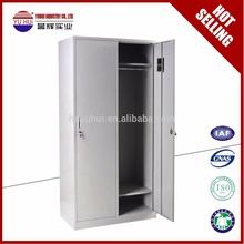 Direct Sale KD Structure Metal Gym locker storage locker 2 door steel wardrobe Locker Cabinet for Bedroom