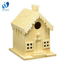 Customizable Solid Wood Antique Wooden Bird Mdf Material House
