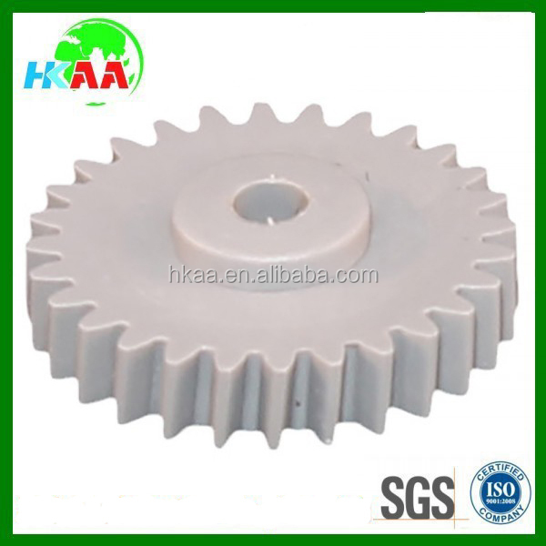 Hot sale custom machined injected plastic straight tooth gears spur gear