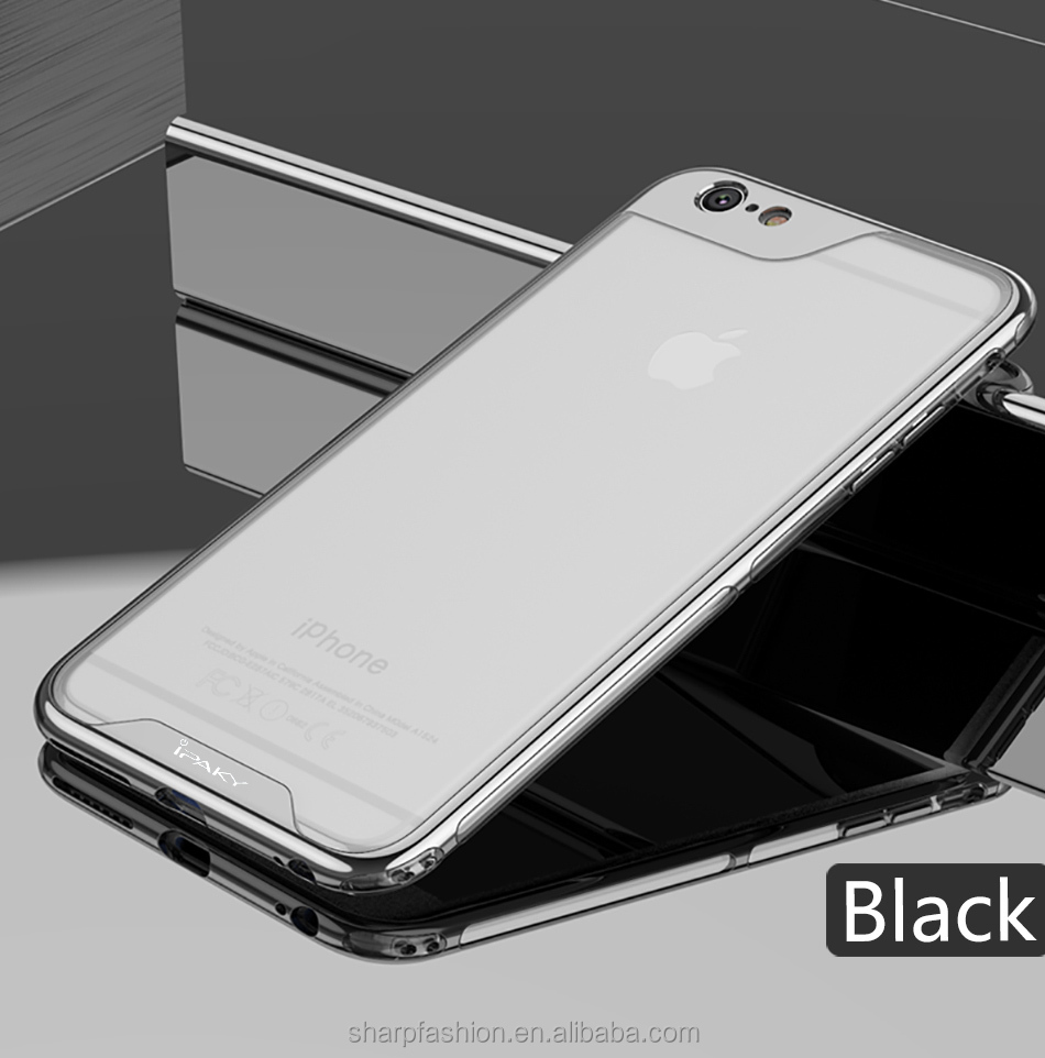 High quality Luxury iPaky Clear Shockproof TPU PC Bumper Phone Case For iphone6/6plus