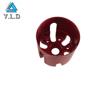 China Factory Aluminum CNC Turning Service, Red Anodized Aluminum Toy Components, 4 Axis Machining Parts