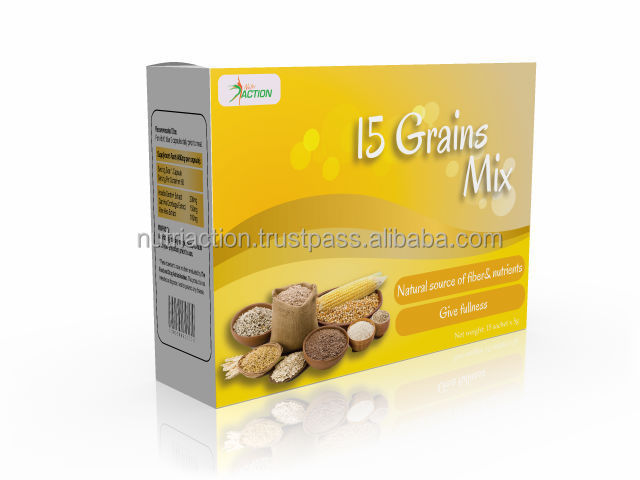 15 Grains Mix Powder Drink for healthy body and slimming