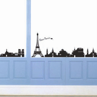 Decorative removable Eiffel Tower wall stickers home decor