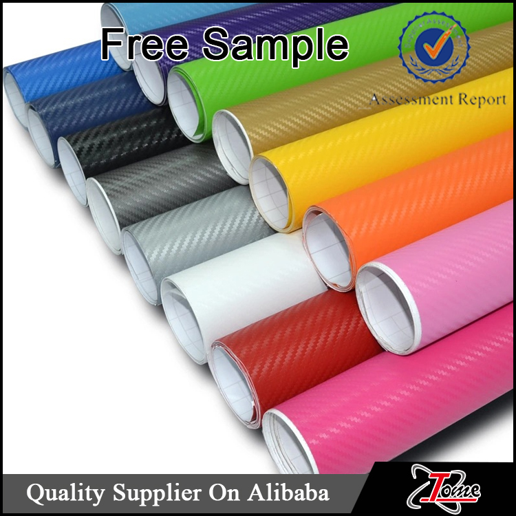 3D carbon fiber with free bubble in many colors, car wrapping vinyl 3D carbon fiber film