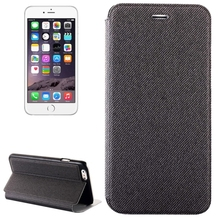 Denim Texture Horizontal Flip Leather Case with Holder for iPhone 6 Plus