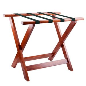 Folding wooden hotel room luggage rack for hotel