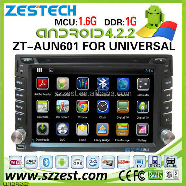 ZESTECH 2014 Newest Android system 2 din universal Car Audio with GPS Ipod DVR digital TV box BT Radio 3G/Wifi