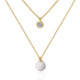 China Jewelry Wholesale Mother's Day Gift Pearl Ball Necklace Zircon Pendant Necklace