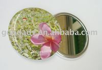 colorful promotional gift Fashion tin mirror
