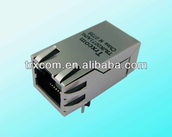 21mm, RJ45 Modular Network PCB Jack 59 8P Side entry LAN Connector