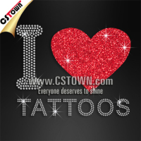 I love tattoos bling hot fix rhinestone motifs new design