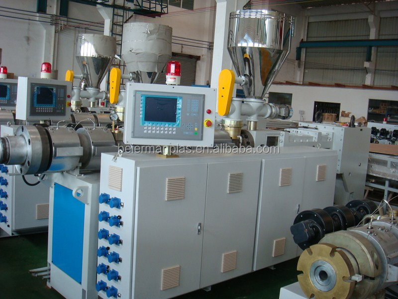 pvc plastic twin screw extruder machine for pipe,sheet