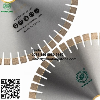 Hot sale round block cutting disk steel saw blade for marble stone electric tools manufacture Arix Segment Silent Diamond Blades