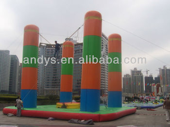 Inflatable four-pillar Bungee jumping/inflatable bungee jumping