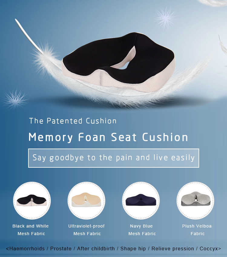 Comfortable Corrects Postures 3D Mesh Cover Wheelchair Sofa Chair Outdoor Coccyx Orthopedic Memory Foam Car Seat Cushion