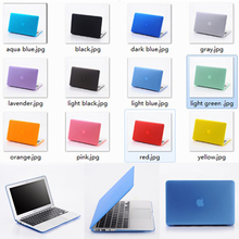 12 colors hard plastic case for macbook air,for macbook pro laptop protective cover