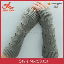 S3313 fashion autumn winter custom long cute fingerless gloves arm warmers for women