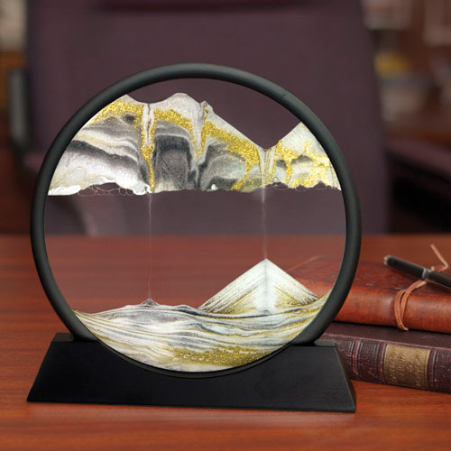 3D moving sand art pictures frame round for desktop home office decoration nice gift <strong>crafts</strong>