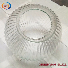 wholesale glass clear ball ceiling lamp shade /ribbed glass shades