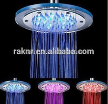 Color Changing Bathroom Top LED Rainfall Shower Head