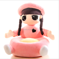 Cute girl big sofa stuffed PP cotton lovely plush toys customzied sofa