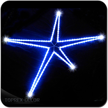 Decorative metal star christmas decoration led lights