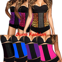 Sexy Leopard Ann Chery waist trainers Instyle Latex Body Shaper corsets