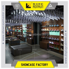 Retail clothing store furniture shoe shop interior decoration for brand name
