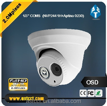 Security Analog High Definition 1/3' CMOS 2.0MP 1080P AHD Dome Camera CCTV Indoor IR 20m 4mm Lens IR-Cut Filter For AHD DVR