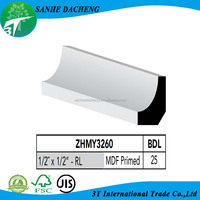 Primed MDF Skirting Board Architectural Moulding