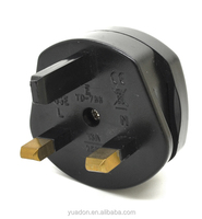 factory manufacture 2pin us to 3pin uk adapter plug with fuse