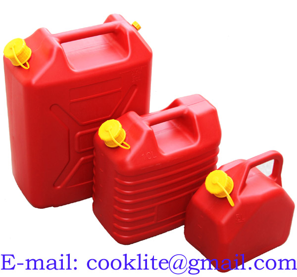 Polyethylene Gas Can Plastic Fuel Container with Flexible Spout