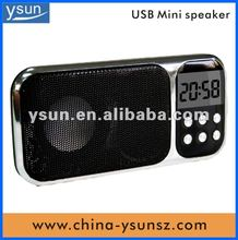 2012 newest music speaker support clock & calendar
