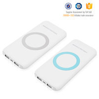 Good stability capacity 12000mAh wireless charger power bank with USB