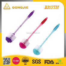 Toilet cleaning brush gutter tool plastic brush