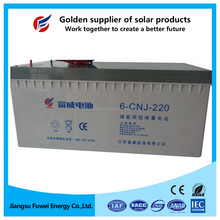 Rechargeable 12V 220Ah solar battery for solar panel system