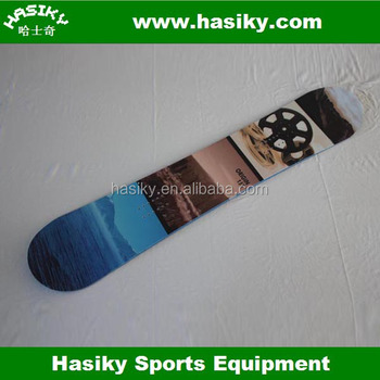 Brand Logo with Free Hasiky Design Snowboard
