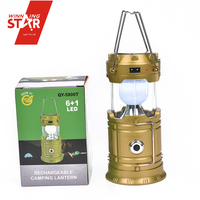 6+1W tent lantern lamp camping latern usb led lamp solar rechargeable lamp
