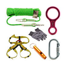 BAITE Outdoor Rock Climbing Descender&Ascender Kit With Climbing Protection
