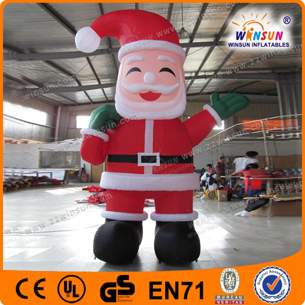 Air-blown inflatable yard decorations christmas father/santa for sale
