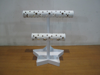 2 Tier Star Bangle Bar with Star Base Jewelry Holder