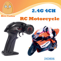 Mini Tudou JXD806 High Quality 1:10 2.4Ghz 4-CH Rc Toy rc motorcycle